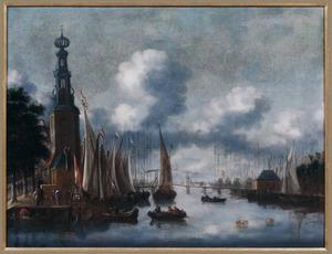 De Montelbaanstoren en de Oude Schans te Amsterdam