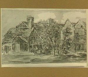 Huizen en een boerderij