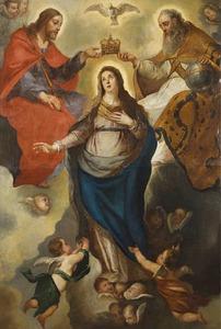 De kroning van Maria tot koningin der hemelen