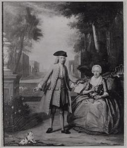 Portret van Suzanna Blok (1678-1764)  en Jan van Eeghen (1729-1760)