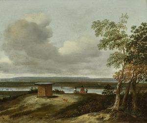 Landschap vanaf de Koningstafel op de Heimenberg (Grebbeberg) bij Rhenen
