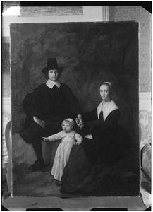 Portret van Cornelis Terwe (1619-1693), Segerina Verbeek (1609-1693) en hun zoon Lodewijk Terwe (1646-1714)