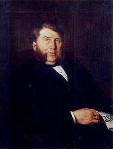 Portret van Johannes van 't Lindenhout (1837-1918)