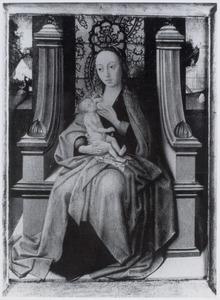 Tronende Maria met kind aan de borst