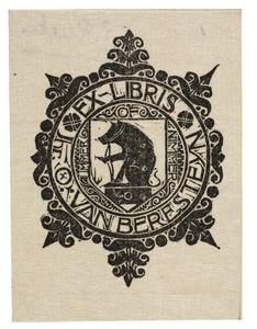 Ex-Libris Jhr. O. van Berestein