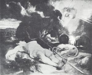 Selene bezoekt de slapende Endymion