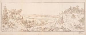 De Rijnvlakte bij Kleef met Emmerich en Rhees, vanaf de Freudenberg