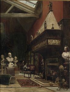In het atelier van de beeldhouwer Sir Joseph-Edgar Boehm, Parijs