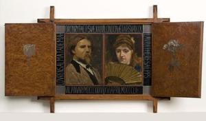 Dubbelportret van Lourens Alma Tadema (1836-1912) en Laura Theresa Epps (1852-1909)