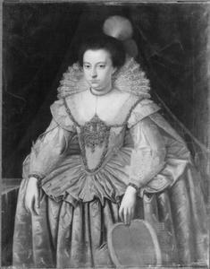 Portret van Anna van Pruisen (1576-1625), echtgenote van keurvorst Johan Sigismund van Brandenburg
