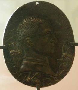 Zelfprotret van Antonio di Pietro Averlino Filarete