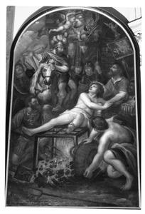 De marteldood van de H. Laurentius op het rooster