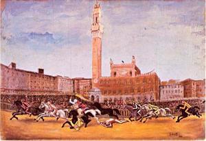 De Palio rennen in Siena
