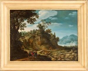 Berglandschap met Emmausgangers