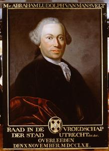 Portret van Abraham Ludolph van Mansvelt (1712-1762)