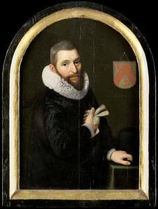Portret van Jan  Gerritsz.van Schoterbosch (...-1654)