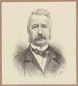 Portret van Willem Jozef Andreas Jonckbloet (1817-1885)
