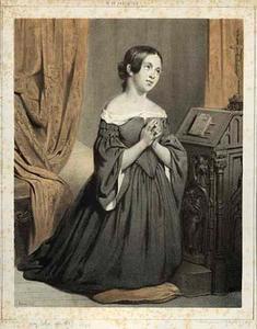 Een biddend meisje
