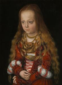 Portret van een prinses van Saksen