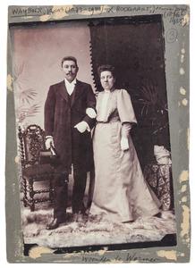 Portret van Jeanne Josephine Boogaart (1876-1958) en Jacob Waijboer (1873-1940)