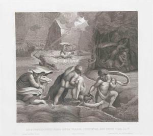 De zondvloed verzwelgt al wat leeft op aarde (Genesis 7:17-24)