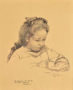 Portret van Jopie Sluiter, dochter van de kunstenaar