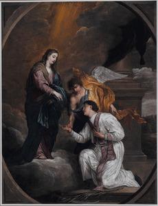 H. Maria schenkt de H. Valentijn de rozenkrans