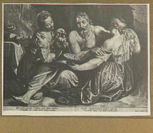 Lot door zijn dochters  dronken gevoerd (Genesis 19: 33-34)