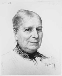 Portret van Hester Boissevain (1842-1914)