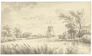 Molen en boerderij aan de rivier de Kromme Mijdrecht