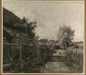 Landschap met boerenerf