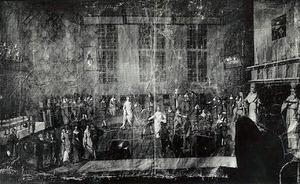 Dansfeest ter gelegenheid van het huwelijk van Eraert van Pipenpoy (....-1638) en Jel van Liauckama (....-....)