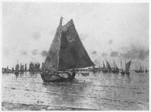 Avond aan de Maas bij Dordrecht