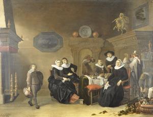 Portret van de familie van Liesbeth van Waart (....-1664)