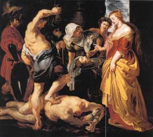 Het hoofd van Johannes de Doper wordt aan Salome aangeboden