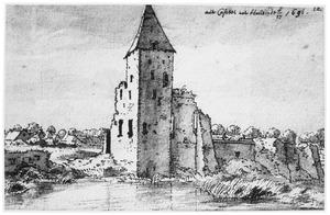De ruïne van het kasteeel van Heusden