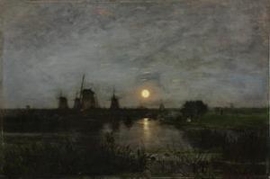 Maanlandschap in Nederland