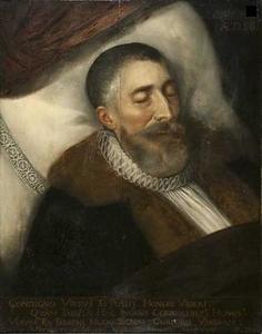 Doodsbedportret van Andries Hessels van Dinter (....-1600)