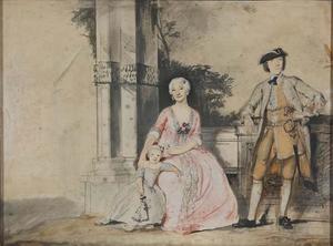 Portret van een echtpaar met hun dochter
