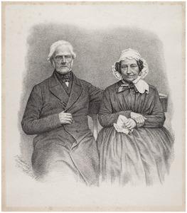Portret van Willem Anthonie de Haze Bomme (1766-1865) en Catharina Reniera Aelmans (1768-1853)