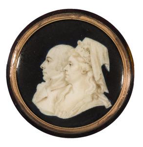Dubbelportret van Frederik Christiaan Reinhard van Reede van Ginkel (1743-1808) en Anna Elisabeth Christina van Tuyll van Serooskerken (1745-1819)
