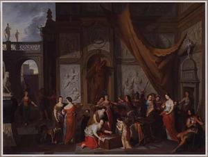 Achilles ontdekt temidden van de dochters van Lycomedes