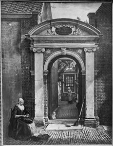 """Gezicht op de poort van het hofje """"De Bakenesserkamer"""" te Haarlem"""