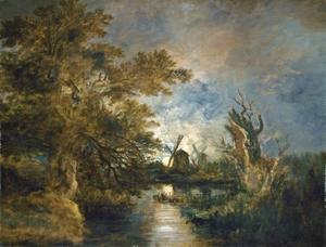 Maanlicht op de rivier de Yare