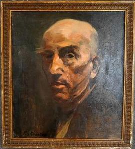 Zelfportret van Fedor van Kregten (1871-1937)