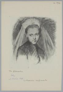 Portret van een Lutherse confirmante