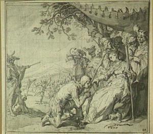 Theagenes ontvangt de erepalm van Chariclea