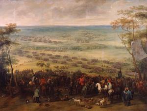 De verrassingsaanaval der keizerlijke troepen onder Johann von Werth en Ottavio Piccolomini op de Zweden onder Carl Gustaf Wrangel tijdens een jachtpartij nabij Dachau, 5 oktober 1648