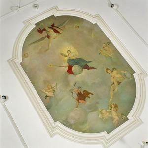 Wolkenlucht met allegorische figuren
