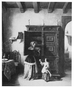 Moeder en kind in een interieur